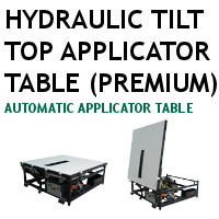 Premium Hydraulic Tilt Top Applicator Table