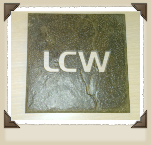 Waterjet cut ceramic tile LCW