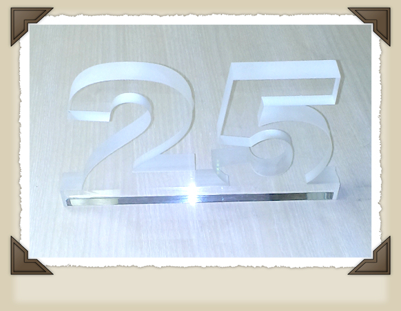 Waterjet cut crystal 25
