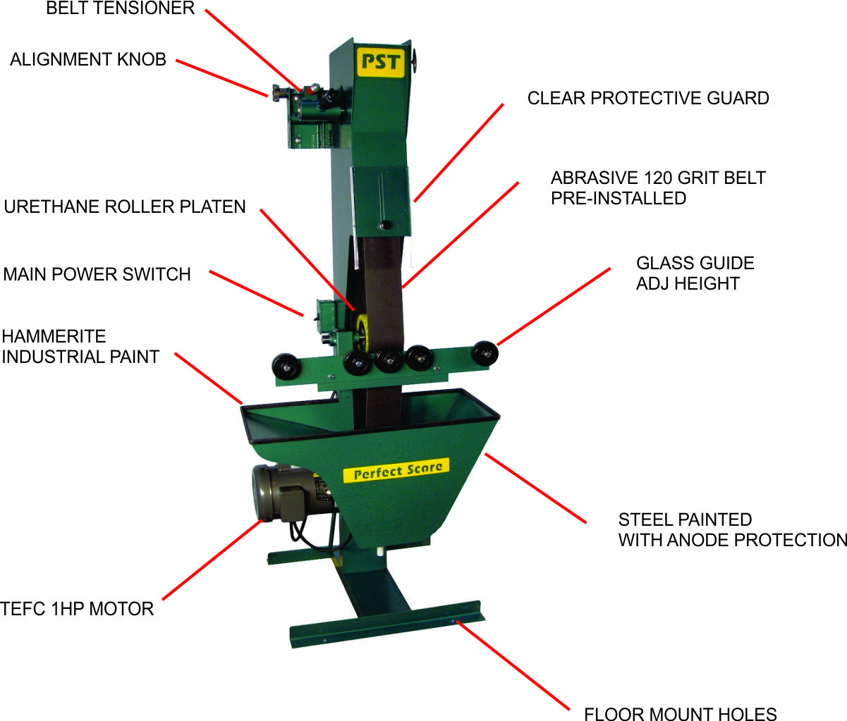 belt sander features zoom in